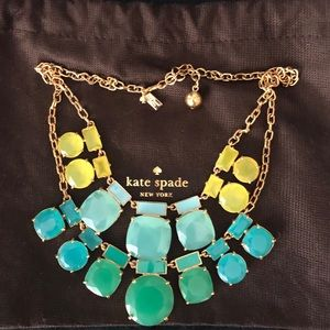 Kate spade green toned layered necklace